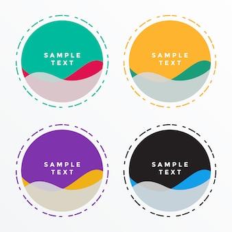 Conjunto de bandeiras de forma abstrata círculo