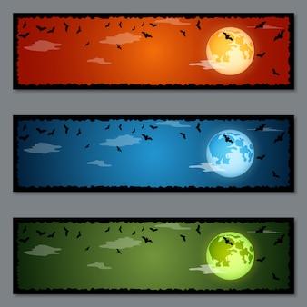Conjunto de bandeiras de halloween