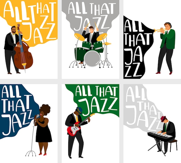 Conjunto de bandeiras de jazz