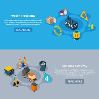 Conjunto de bandeiras de separação de resíduos