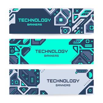 Conjunto de bandeiras de tecnologia