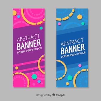 Conjunto de bandeiras modernas com design abstrato