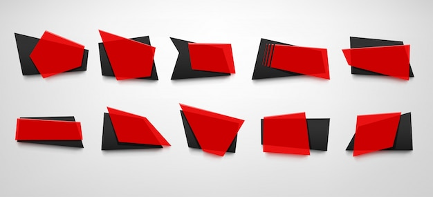 Conjunto de bandeiras vermelhas