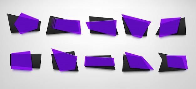 Conjunto de bandeiras violeta