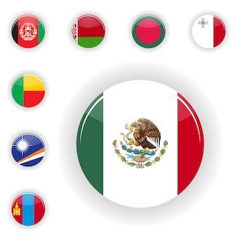 Conjunto de bandeiras Vetor Premium