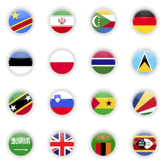 Conjunto de bandeiras