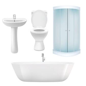 Conjunto de banheiro realista