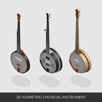 Conjunto de banjo isométrico baseado