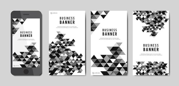 Conjunto de banner abstrato de negócios