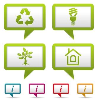 Conjunto de banner coletar ambiente
