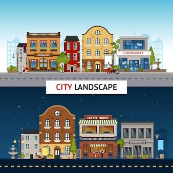 Conjunto de banner da cidade
