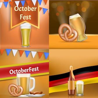 Conjunto de banner da oktoberfest