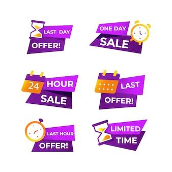 Conjunto de banner de contagem regressiva de vendas