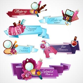 Conjunto de banner de cosméticos