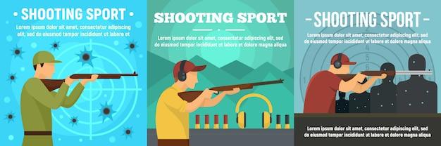 Conjunto de banner de esporte de tiro