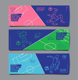Conjunto de banner de esporte