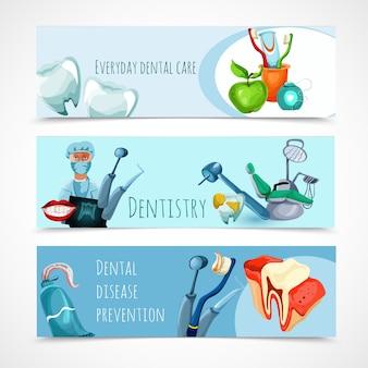 Conjunto de banner de estomatologia