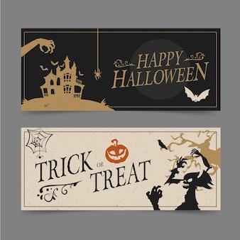 Conjunto de banner de festa de halloween