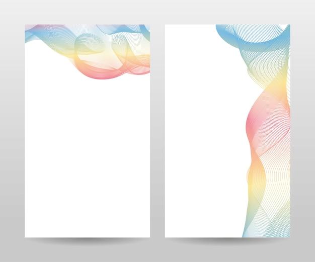 Conjunto de banner de formas onduladas