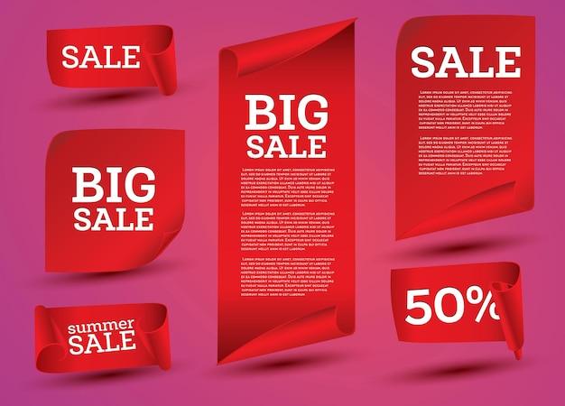 Conjunto de banner de grande venda
