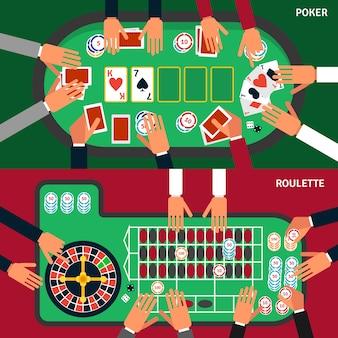 Conjunto de banner de jogo de cassino