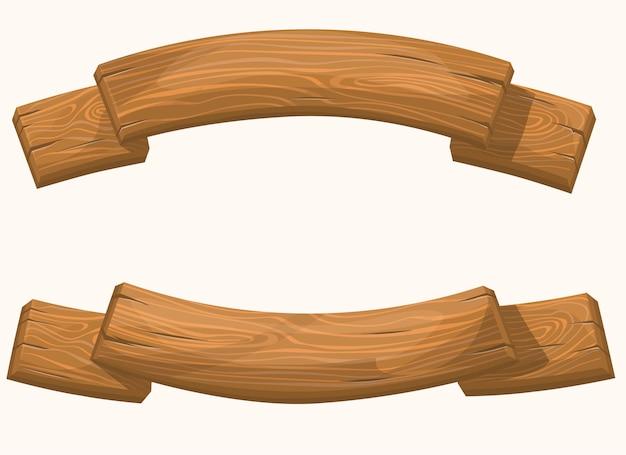 Conjunto de banner de madeira