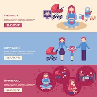 Conjunto de banner de maternidade