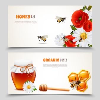 Conjunto de banner de mel