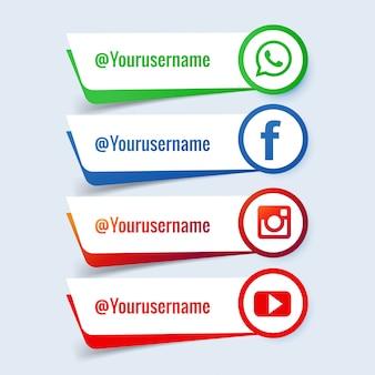 Conjunto de banner de mídia social