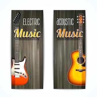 Conjunto de banner de música