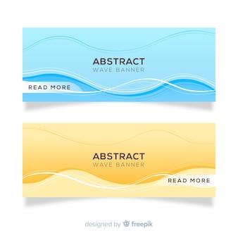 Conjunto de banner de ondas abstratas