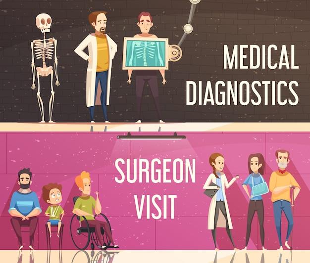 Conjunto de banner de ortopedista