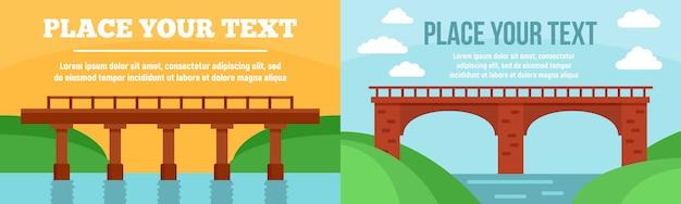 Conjunto de banner de pontes