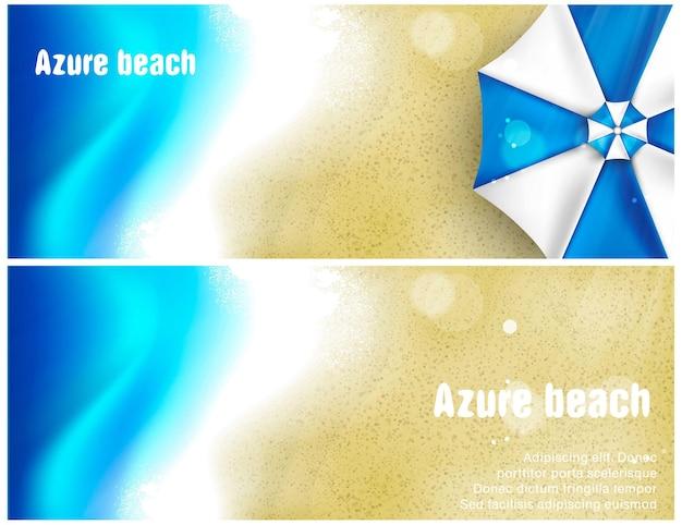 Conjunto de banner de praia.