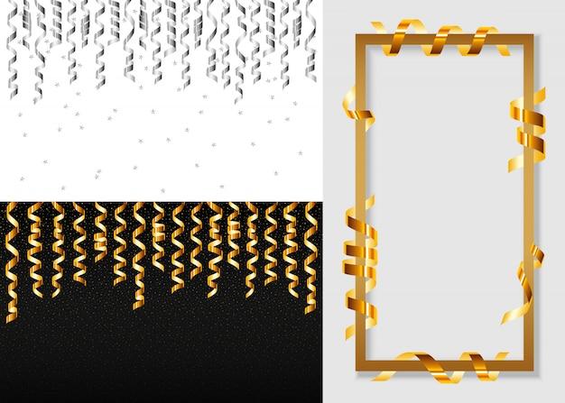 Conjunto de banner de serpentina serpentina