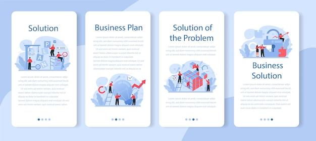 Conjunto de banner de solução para aplicativos móveis