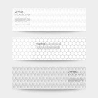Conjunto de banner de textura abstrata. Vetor Premium