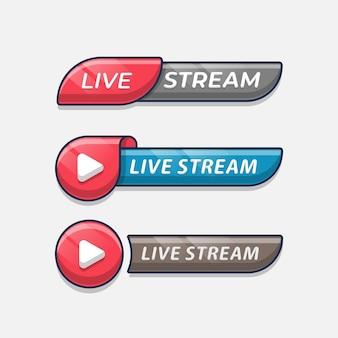 Conjunto de banner de transmissão ao vivo
