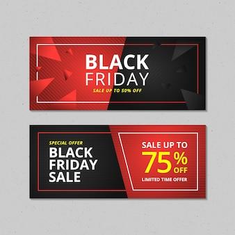Conjunto de banner de venda da black friday