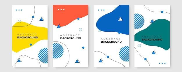 Conjunto de banner de venda moderno com formas abstratas. gradiente geométrico