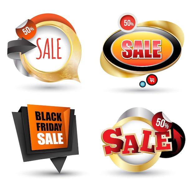 Conjunto de banner de venda pode usar elemento para promoção