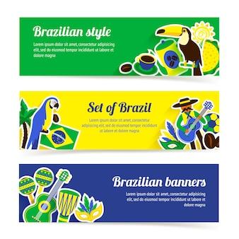 Conjunto de banner do brasil