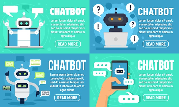 Conjunto de banner do chatbot