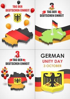 Conjunto de banner do deutschen einheit