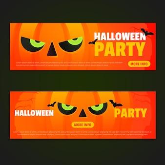 Conjunto de banner do festival de halloween