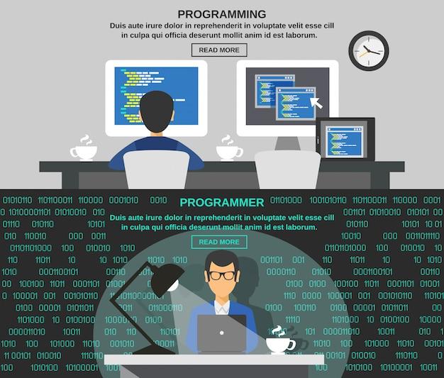 Conjunto de banner do programador