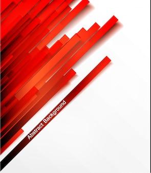 Conjunto de banner do vetor. linha vermelha. tiras