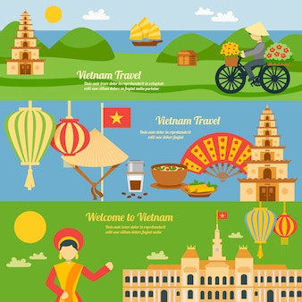 Conjunto de banner do vietnã