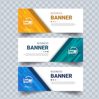 Conjunto de banner empresarial moderno
