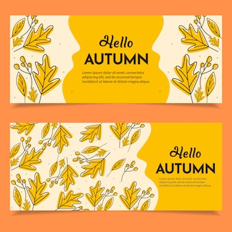 Conjunto de banner feliz outono